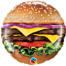 "Cheeseburger Foil Balloon (9"" Air-Fill) 1pc"